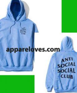 anti social social club light blue hoodie thd