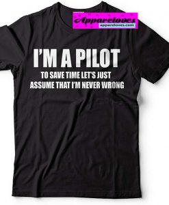 i'am Pilot Aviation Flight School t-shirt thd