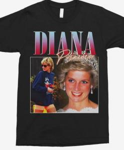 princess diana vintage unisex t-shirt thd