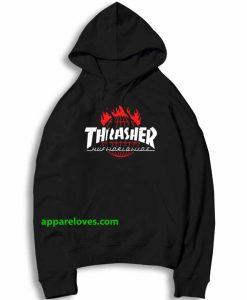 thrasher x huf hoodie thd