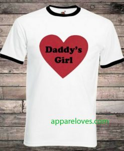 Daddys Girl Love Heart T-Shirt thd