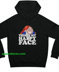 Disney Grumpy Dwarf My Happy Face Hoodie THD