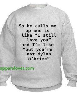 Dylan O'brien Sweatshirt thd