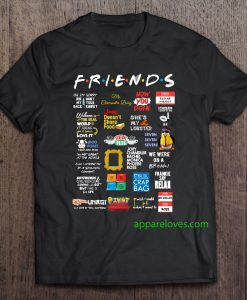 Friends Quotes t shirt thd