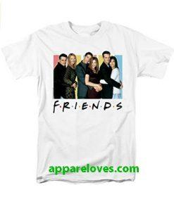Friends TV Series Cast Logo Adult T Shirt thd