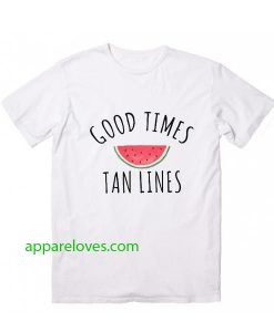 Good Times Tan Lines T Shirt thd