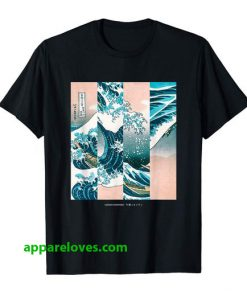 Great Wave Collage Japanese t shirt thd
