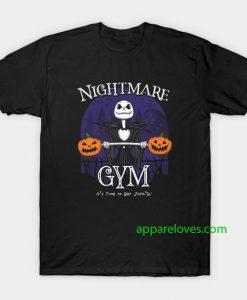 Halloween Town Gym Jack Skellington T-Shirt thd