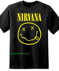 Nirvana Band Smiley T Shirt thd