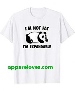 Not Fat Expandable Panda Bear T-Shirt thd