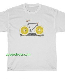 Old Bicycle Print T Shirt thd