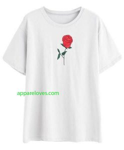 Red Rose Tee shirt thd