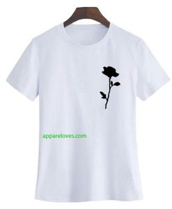 Rose black rose t shirt thd
