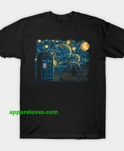 Starry Gallifrey - Doctor Who T-Shirt thd