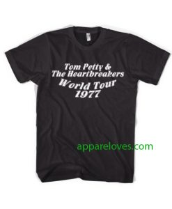 Tom Petty & The Heartbreakers World Tour 1977 T-Shirt thd
