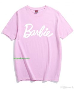 barbie letter t-shirt thd