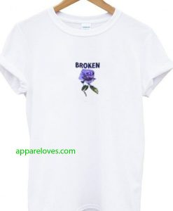 broken purple rose t-shirt thd