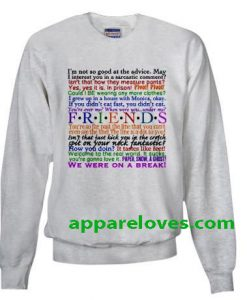 friends quotes sweatshirt THD