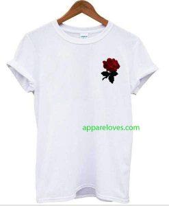 red rose flower tee Tshirt thd