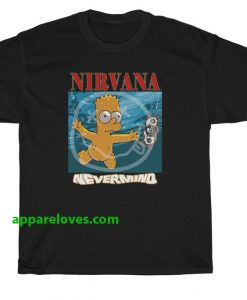 Bart Simpson Nirvana Nevermind T-shirt thd