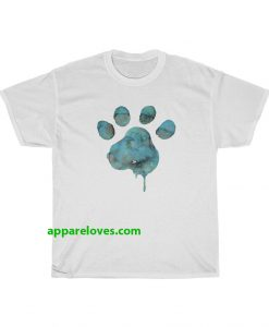 Blue Watercolor Paw T-Shirt THD