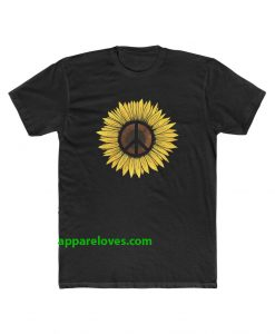 Hippie Sunflower Peace Symbol shirt thd