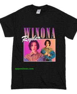 Winona Ryder T Shirt Black thd